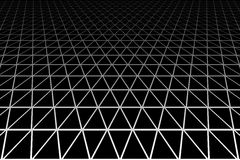 Geometric latticed texture. Perspective view. Stock Image