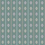 Geometric laurel green, coral, pink and grey illustration. royalty free illustration