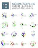 Geometric leaf icon set Royalty Free Stock Photography