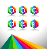 Geometric Letters Logo Stock Photography