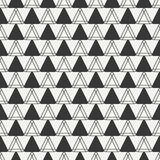 Geometric line monochrome abstract hipster seamless pattern with triangle. Royalty Free Stock Photography