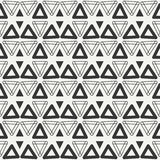 Geometric line monochrome abstract hipster seamless pattern with triangle. Wrapping paper. Scrapbook paper. Tiling. Vector illustration. Background. Graphic Stock Images