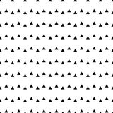 Geometric line monochrome abstract seamless pattern with triangle Stock Images
