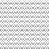 Geometric line monochrome abstract seamless pattern with waves Royalty Free Stock Photos