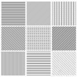 Geometric line pattern set. Parallel streep black diagonal lines patterns vector illustration vector illustration