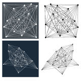 Geometric line patterns Royalty Free Stock Image