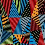 Geometric lined seamless pattern. Stock Image