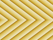 Textured Gold Yellow Geometric Lines Angles Symmetric Background Design. Geometric lines and angles in a symmetric repeating arrow shape pattern with gradient royalty free stock images