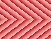 Textured Rosy Red White Geometric Lines Angles Symmetric Background Design. Geometric lines and angles in a symmetric repeating arrow shape pattern with gradient Royalty Free Stock Photo