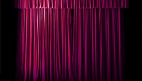 The geometric lines of the theater curtain