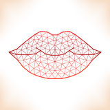 Geometric lips Stock Photo