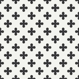 Geometric lmonochrome abstract hipster seamless pattern with cross, plus. Wrapping paper. Scrapbook paper. Tiling Stock Photography