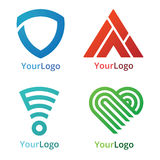 Geometric Logo. Collection of corporate logo elements and icons Stock Photos