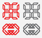 Geometric Logo Design elements. Best of use your business propose Stock Images