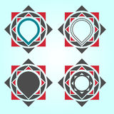 Geometric Logo Design elements Royalty Free Stock Photo