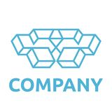 Geometric Logo Template Stock Photo