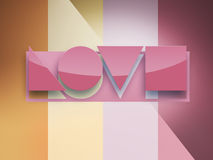 Geometric love word Royalty Free Stock Photos