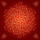 Ð¡ircle background. Geometric lovely background with flower and heart vector illustration