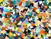 Geometric low poly mosaic multicolored scattered background Royalty Free Stock Photo