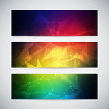Geometric, lowpoly, abstract modern vector banners Stock Photos