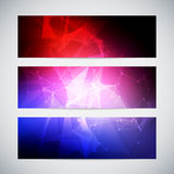 Geometric, lowpoly, abstract modern vector banners Stock Images