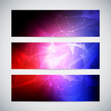 Geometric, lowpoly, abstract modern vector banners Royalty Free Stock Photography