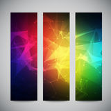 Geometric, lowpoly, abstract modern vector banners Royalty Free Stock Photo