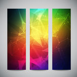 Geometric, lowpoly, abstract modern vector banners Royalty Free Stock Image