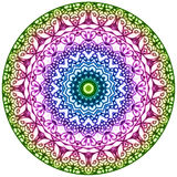 Geometric Mandala. Mandala created from fractals, Flower of Life Stock Images