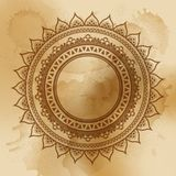 Geometric mandala element made in . Vintage decorative elements. Watercolor background. Islam, Arabic, Indian, Tribal motifs Royalty Free Stock Photography