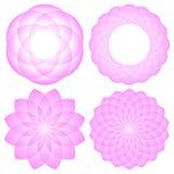 Geometric mandala flower Stock Photography