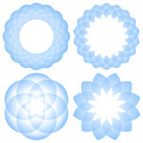 Geometric mandala flower Royalty Free Stock Images