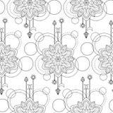 Geometric mandala seamless pattern Royalty Free Stock Image