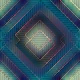 Geometric matrix pattern on blurred background. Royalty Free Stock Image