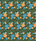 Geometric maze seamless pattern, endless illusive vector backgro Stock Images