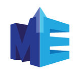 Geometric ME Logo Concept Royalty Free Stock Images