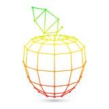 Geometric Mesh Apple Royalty Free Stock Photo