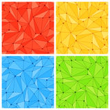 Geometric Mesh Seamless Patterns Royalty Free Stock Photos