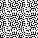 Geometric messy lined seamless pattern, monochrome vector endles Royalty Free Stock Images