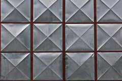 Geometric metal surface Stock Photography