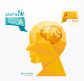 Geometric Modern Design head style infographic template Stock Image