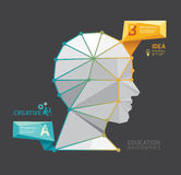 Geometric Modern Design head style infographic template Royalty Free Stock Images