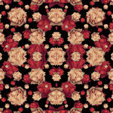 Geometric Modern Floral Seamless Pattern Royalty Free Stock Photo