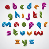 Geometric modern style digital letters alphabet Royalty Free Stock Images