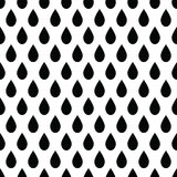 Geometric  monochrome abstract seamless pattern with drops Royalty Free Stock Photos