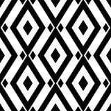 Geometric monochrome background. Black and white seamless pattern. Vector illustration Stock Photo
