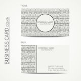 Geometric monochrome business card template with Royalty Free Stock Photography