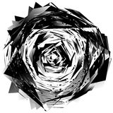 Geometric monochrome element isolated on white. Rough, edgy, tex Royalty Free Stock Photo