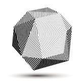 Geometric monochrome polygonal striped vector structure, modern Royalty Free Stock Photos