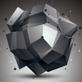 Geometric monochrome polygonal structure with lines mesh, modern Royalty Free Stock Image